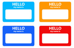 Hello my name card Stock Photography