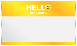 Hello My Name Is Card Stock Photography