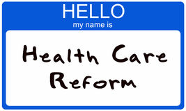 Hello  my name is Health Care Reform Stock Photography