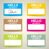 Hello My Name Is... Name Tag Set. Royalty Free Stock Photography
