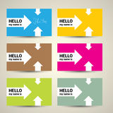 Hello My Name Is. Name Tag Set. Royalty Free Stock Image