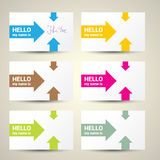 Hello My Name Is. Name Tag Set. Royalty Free Stock Photography