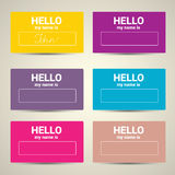 Hello My Name Is. Name Tag Set. Vector Business card set vector illustration