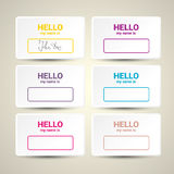 Hello My Name Is. Name Tag Set. Stock Photography
