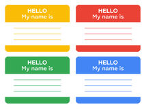 Hello my name is sign with blank white copyspace Royalty Free Stock Images
