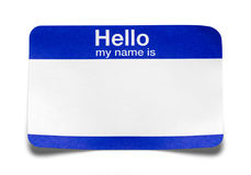 Hello My Name Is Tag Bent Royalty Free Stock Image