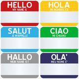 Hello My Name Is Tags Stock Image