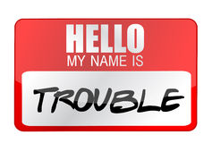 Hello my name is Trouble Stock Photos