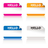 Hello my name is variation Royalty Free Stock Photos