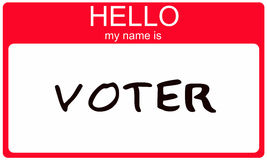 Hello my name is Voter Stock Photo