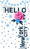 Hello new york city vector art. graphic design Stock Photo