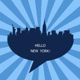 Hello New York Emblem, USA Stock Images