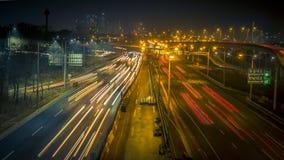 Amazing Korea Seoul Night Traffic Road. Hello, this is a night traffic road shot with G7 in Seoul. Korea. Thank you Stock Image