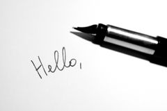 Hello note Royalty Free Stock Photo