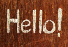 Hello note Royalty Free Stock Photos