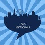 Hello Nottingham, Travel To Nottingham vector illustration