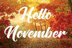 Free Hello November Royalty Free Stock Photos - 129298378