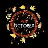 hello oktober Royalty-vrije Stock Foto's