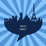 The Hello Paris Emblem, France Royalty Free Stock Photography