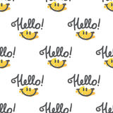 Hello pattern Stock Images
