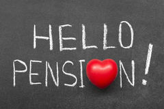 Hello pension Stock Images