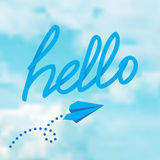 Hello phrase on a sky Stock Photography