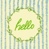 Hello-prentbriefkaar stock illustratie