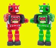 Hello-robot rode vrije geel Royalty-vrije Stock Afbeeldingen