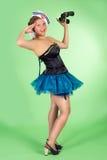 Hello sailor pin up girl Royalty Free Stock Photo