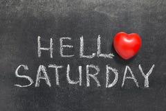 Hello Saturday Stock Images