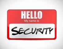 Hello security name tag illustration design Stock Photos