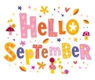 Hello September Royalty-vrije Stock Afbeeldingen