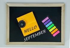 Hello September Royaltyfri Foto