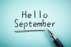 Hello September Royalty Free Stock Photo