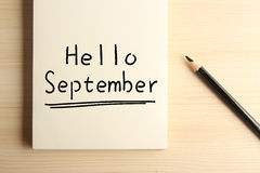 Hello September Royalty Free Stock Photos