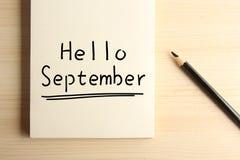 Hello September Royalty Free Stock Photos