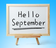 Hello September Stock Images