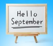 Hello September Stock Images