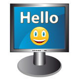 Hello with smile Royalty Free Stock Photography