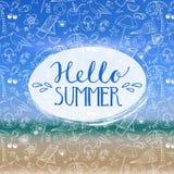 Hello sommar Fotografering för Bildbyråer