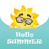 Hello sommar! Stock Illustrationer