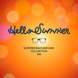 Hello sommar, suddig bakgrund för sommartid Arkivbilder