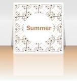 Hello sommaraffisch Blåtthav, Sky & moln Verkställer affischen, ram Lyckligt feriekort, lyckligt semesterkort stock illustrationer
