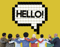Hello Speech Bubble Technology Graphic Concept Stock Image