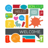 Hello! Speech Bubbles Royalty Free Stock Photos