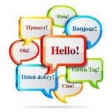 Hello speech bubbles. Royalty Free Stock Image