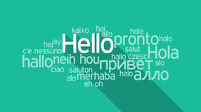 Hello speech cloud Royalty Free Stock Images