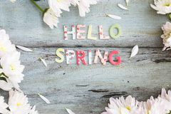Hello Spring Background Royalty Free Stock Photography