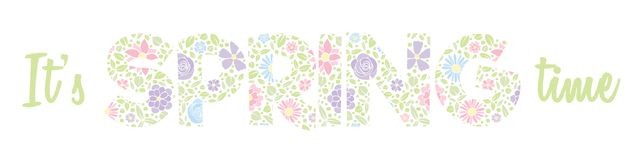 Hello Spring - banner with text made of a hand drawn flowers. royalty free stock photography