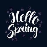Hello Spring, Calligraphy season banner design, illustration. Hello Spring, Calligraphy season banner design, vector illustration Royalty Free Stock Photo